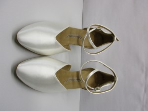 Diamant - Damen Tanzschuhe 105-068-092 - Satin Weiß - 5 cm Latino [UK 6] *Mangel*
