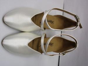 Diamant - Damen Tanzschuhe 107-013-092 - Satin Weiß - 4,2 cm Spanish [UK 3,5] *Mangel*
