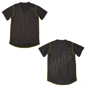 Zumba® - Keep the Pace V-Neck - Gunmetal