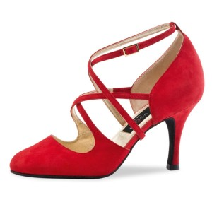 Nueva Epoca - Ladies Dance Shoes Marissa - Red Suede