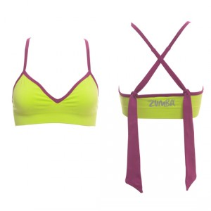 Zumba® - Marvelous Seamless Bra - Clove/Lime | Final Sale