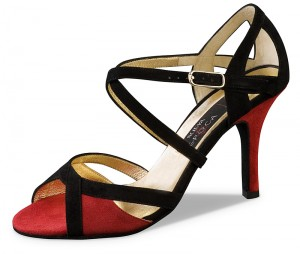 Nueva Epoca - Ladies Dance Shoes Paulina - Suede Red/Black