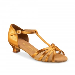 Rummos Ni%ntilde;as Zapatos de Baile R160 - Tan - 4 cm
