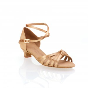 Rummos Ni%ntilde;as Zapatos de Baile R319 - Tan - 4 cm