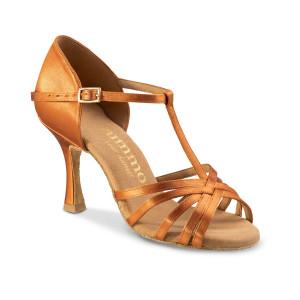 Rummos Mulheres Sapatos de Dança R331 - Dark Tan - 7 cm
