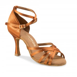 Rummos Mulheres Sapatos de Dança R332 - Dark Tan - 7 cm