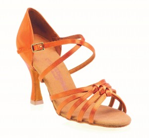 Rummos Ladies Dance Shoes R358 - Dark Tan - 7 cm