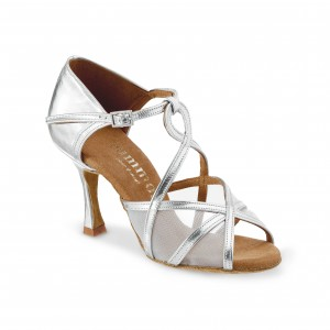 Rummos Ladies Dance Shoes R365 - Leather Silver - 7 cm