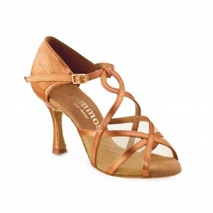 Rummos Ladies Dance Shoes R365 - Dark Tan - 7 cm