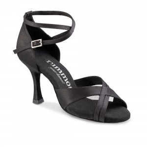 Rummos Ladies Dance Shoes R370 - Black - 7 cm