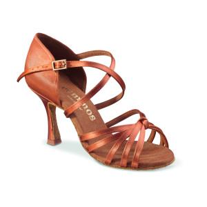 Rummos Ladies Dance Shoes R380 - Dark Tan - 7 cm