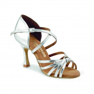 Rummos Ladies Dance Shoes R380 - Silver - 7 cm