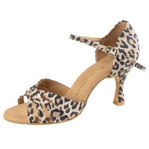 Rummos Damen Tanzschuhe R383 - Leder Leopard - 6 cm