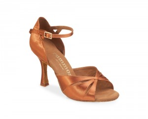 Rummos Ladies Dance Shoes R385 - Dark Tan - 7 cm