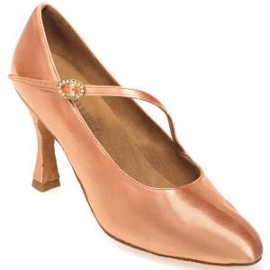 Rummos Ladies Ballrom Dance Shoes R394 - Flesh - 6 cm
