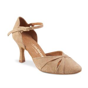 Rummos Mulheres Sapatos de Dança R405 - Nabuk NehruTan - 6 cm