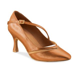 Rummos Ladies Ballrom Dance Shoes R490 - Dark Tan - 6 cm