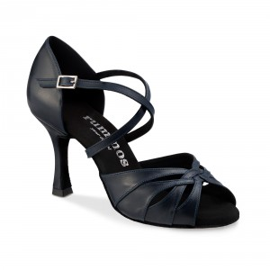 Rummos Mulheres Sapatos de Dança R520 - Pele Navy Azul - 7 cm