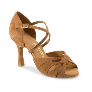 Rummos Damen Tanzschuhe R520 - Leder Braun - 7 cm