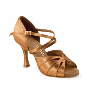Rummos Ladies Dance Shoes R520 - Dark Tan - 7 cm