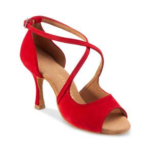 Rummos Damen Tanzschuhe R545 - Rot - 7 cm