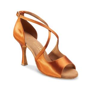 Rummos Mulheres Sapatos de Dança R545 - Dark Tan - 7 cm