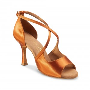 Rummos Ladies Dance Shoes R545 - Dark Tan - 7 cm