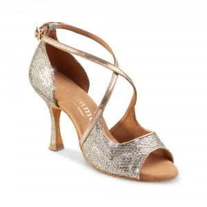 Rummos Mujeres Zapatos de Baile R545 - Platin - 7 cm