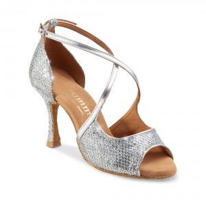 Rummos Ladies Dance Shoes R545 - Silver - 7 cm