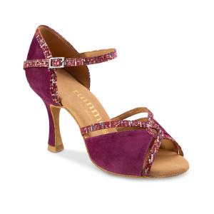 Rummos Mulheres Sapatos de Dança R550 - Nubuck Burgundy - 7 cm