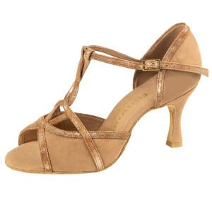 Rummos Mulheres Sapatos de Dança Santigold - Nubuck/Pele Marrom/Tan Cuarzo - 6 cm