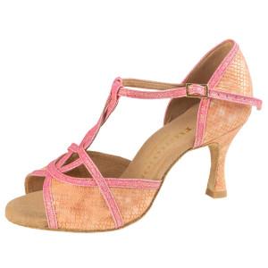 Rummos Mulheres Sapatos de Dança Santigold - Pele SalSnake/Glitter Rosa - 6 cm