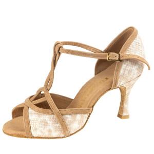 Rummos Mulheres Sapatos de Dança Santigold - Nobuk/Pele Snake Beige/LigBrown - 6 cm