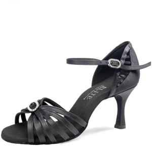 Rummos Mulheres Latino Sapatos de dança Elite Karina 041 - Cetim Preto - 6 cm
