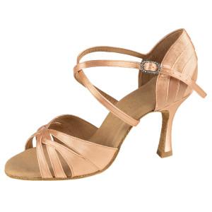 Rummos Mulheres Latino Sapatos de dança Elite Paris 043 - Cetim Flesh - 7 cm