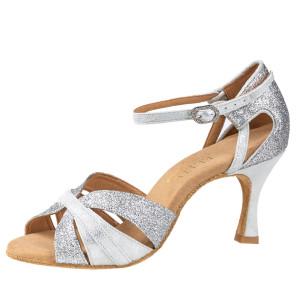 Rummos Mulheres Latino Sapatos de dança Elite Aura 139/169 - Leder/Glitzer Silber - 6 cm