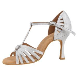 Rummos Ladies Latin Dance Shoes Elite Karina 169 - Leder Silber Cuarzo - 7 cm