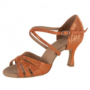 Rummos Mujeres Zapatos de Baile Elite Paris 548 - Dark Tan Shiny Leder - 6 cm