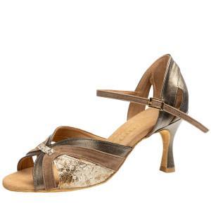 Rummos Mulheres Sapatos de Dança Isabel 148-023-198 - BronzMetal/Taupe - 6 cm