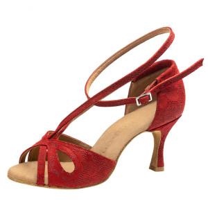Rummos Mulheres Sapatos de Dança R306 - Pele NehruRed - 6 cm
