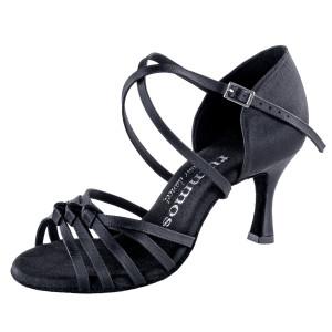 Rummos Damen Tanzschuhe R358 041 - Satin Schwarz - 6 cm