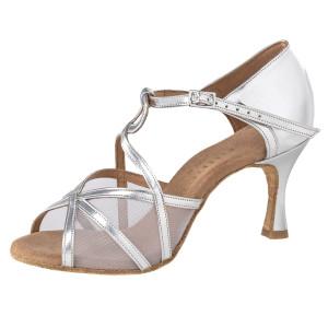 Rummos Damen Tanzschuhe R365 009 - Leder Silber - 6 cm