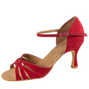 Rummos Damen Tanzschuhe R383 - Nubuck Rot - 6 cm