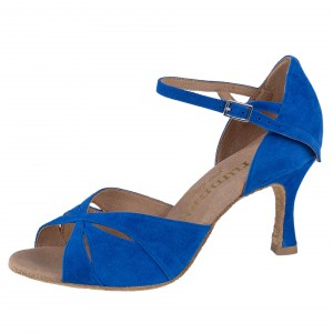 Rummos Damen Tanzschuhe R385 022 - Nubuck Royal Blau - 6 cm