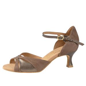 Rummos Mulheres Sapatos de Dança R385 023-148 - Nubuck/Leder Taupe/BronzMetal - 5 cm