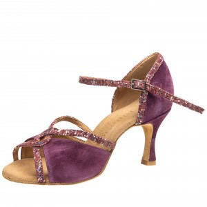 Rummos Ladies Dance Shoes R550 - Nubuck Burgundy - 6 cm