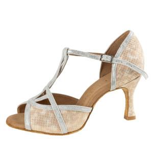 Rummos Mulheres Sapatos de Dança Santigold - Snake Bege/Prata Cuarzo - 6 cm