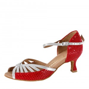 Rummos Ladies Dance Shoes Stella - Leather Red/Silver