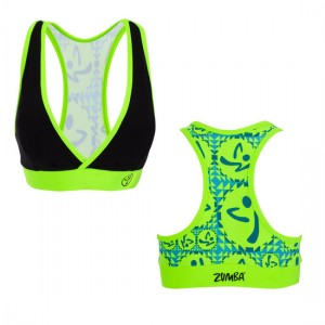 Zumba® - Vibe V-Bra Top - Schwarz | Final Sale