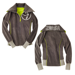 Zumba® - Zweety Velour Track Jacket - Gunmetal | Final Sale